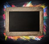 image of freeze  - Wooden blackboard with free space for text - JPG