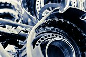 stock photo of pimp  - Close up Image of  Automobile gear assembly background - JPG