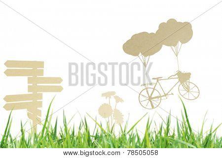 Fresh spring a green grass