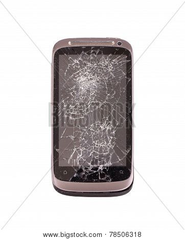 Smartphone With A Broken Screen