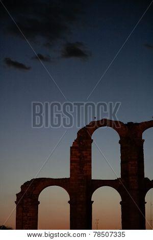 Merida Aqueduct Sunset