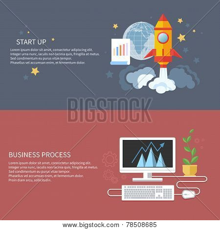 Start up rocket and business process