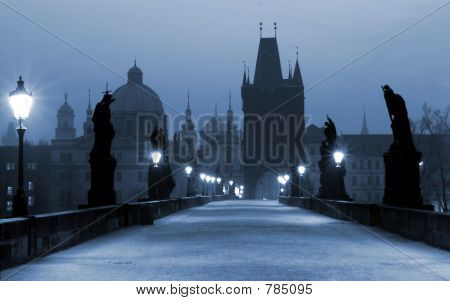Charles Bridge, (blue) Prague