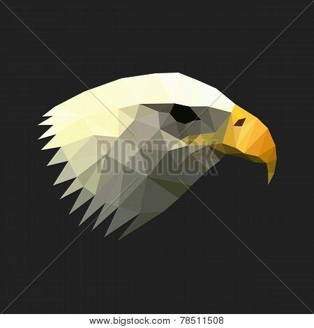 Geometric polygon eagle illustration