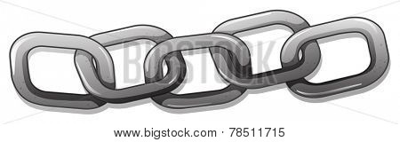 Illustration of a metal chain