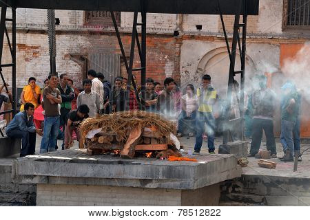 Cremation Ghats In Pashupatinath, Nepal