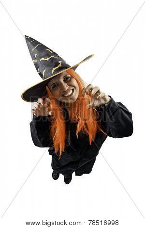 Witch sorcery isolated on white background