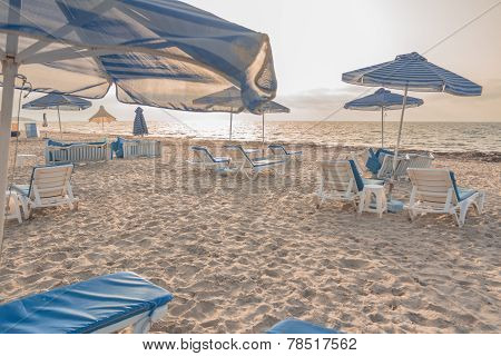 Sunset Beach On Greek Kos Island