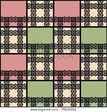 Abstract Seamless Lace Patchwork Pattern Texture Background
