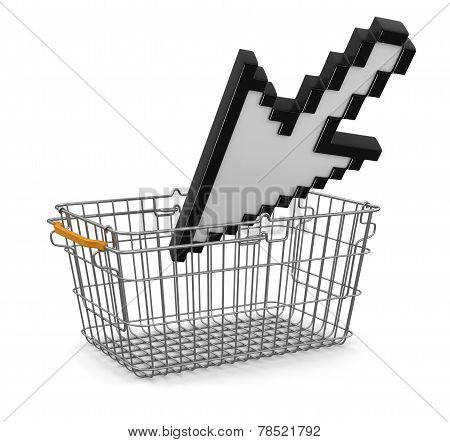 Shopping Basket and Cursor (clipping path included)