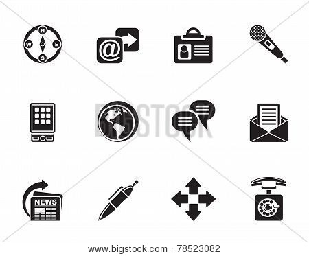 Silhouette Business, office and internet icons Silhouette Business, office and internet icons - vect