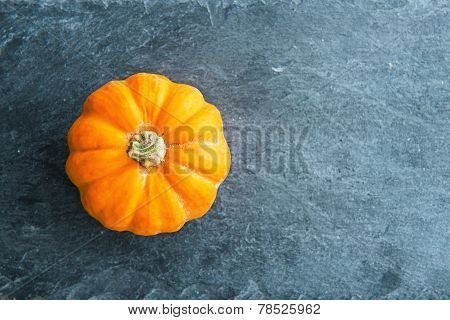 Closeup On Pumpkin On Stone Substrate