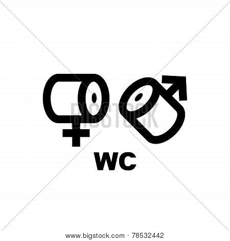 Toilet Vector Sign