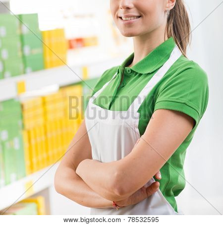 Saleswoman At Supermarket
