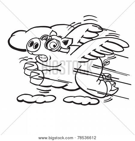 Speedy Flying Pig