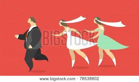 Bride Chases Runaway Groom