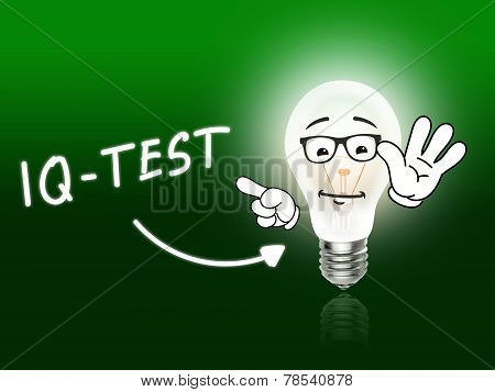 Iq Test Bulb Lamp Energy Light Green