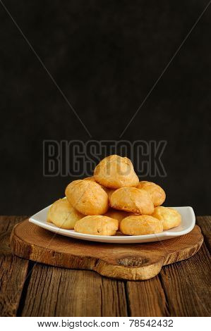 Gougeres On White Plate