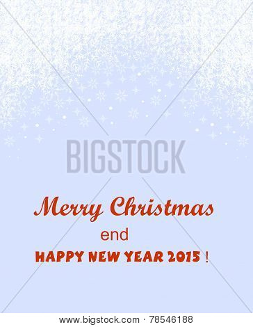 Banner with winter background with Christmas greetings