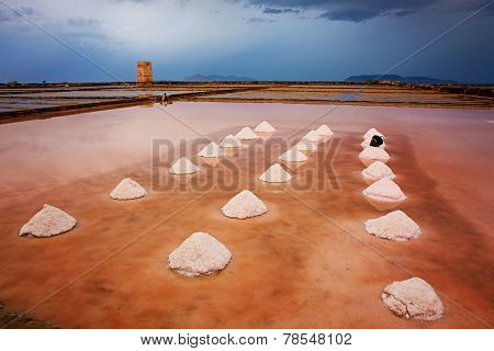 Mounds Of Salt In The Museum Of Salt