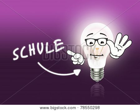 Schule Bulb Lamp Energy Light Pink