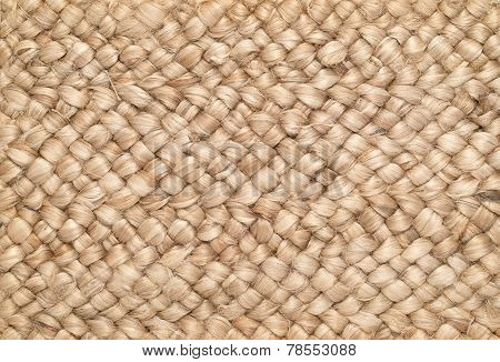 Wool Rug with Big Knotty Weave.