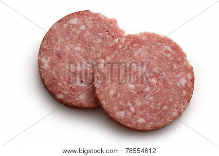 Two Pieces Of Cervelat Sausage