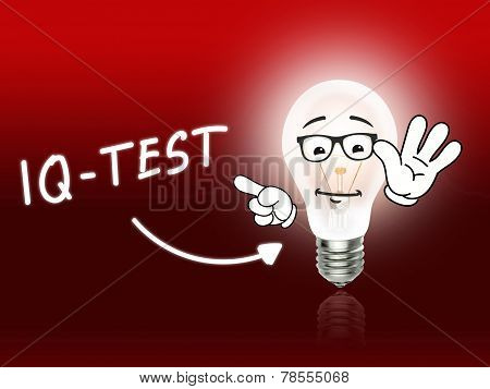 Iq Test Bulb Lamp Energy Light Red