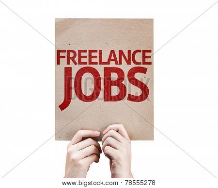 Freelance Jobs card isolated on white background