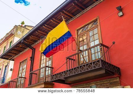 Colonial house in Candelaria, Bogota, Colombia