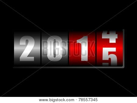 2015 new years illustration with counter