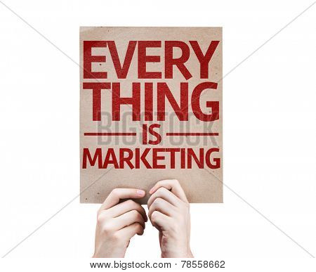 Every Thing is Marketing card isolated on white background
