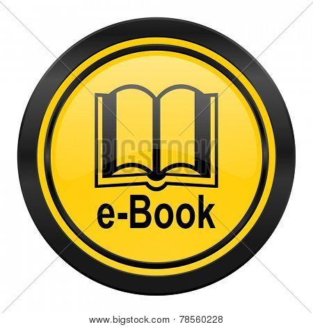 book icon, yellow logo, e-book sign