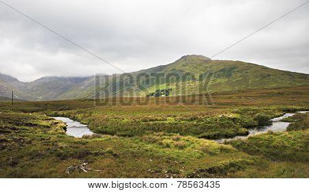 National park Connemara in summer.