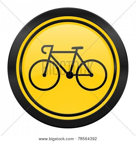 bicycle icon, yellow logo, bike sign