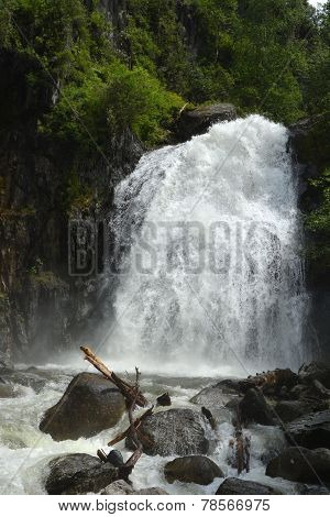 The Pearl Of Altai Region- Korbu Waterfall
