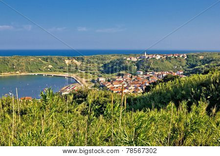 Island Of Susak Village And Nature View