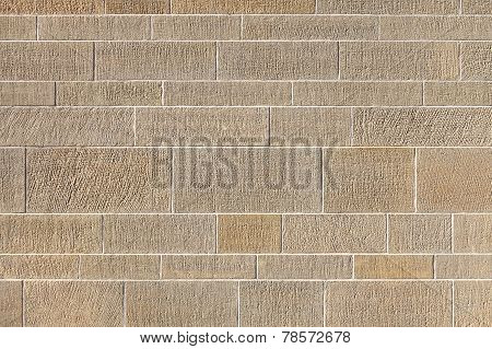 Pattern of an exterior wall in horizontal format