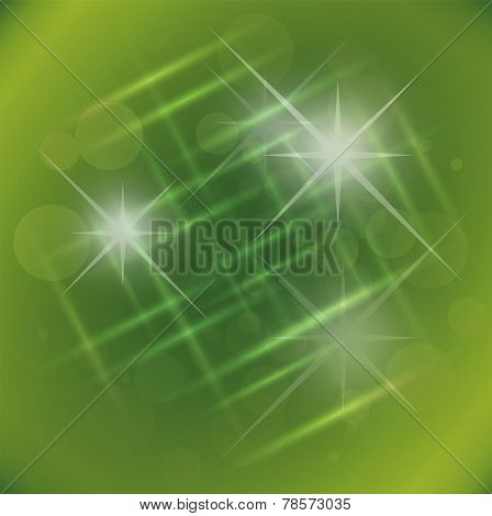 Abstract elegance green background with star