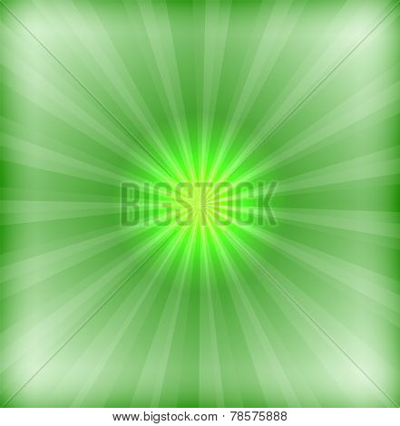 Green background with lens flare