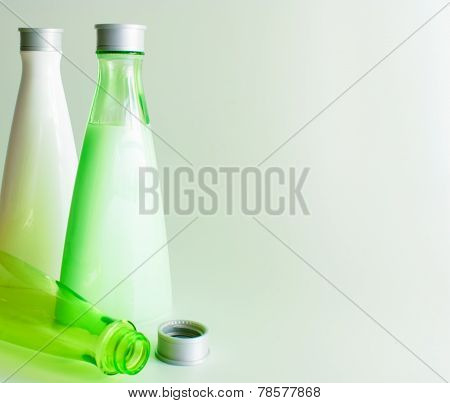Background With Cosmetic Bottles