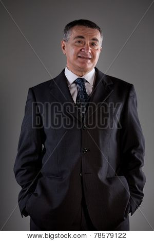 Old Involved Business Man Thinking