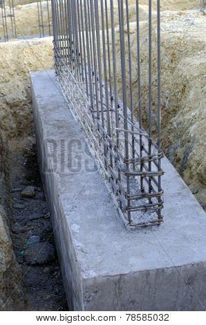 Piling Strong Concrete Column Basement