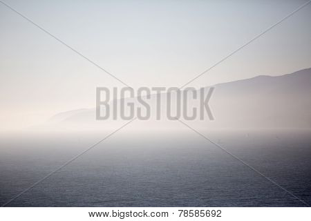 Foggy Mountain And Ocean