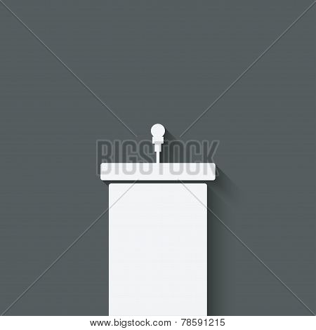podium with microphone