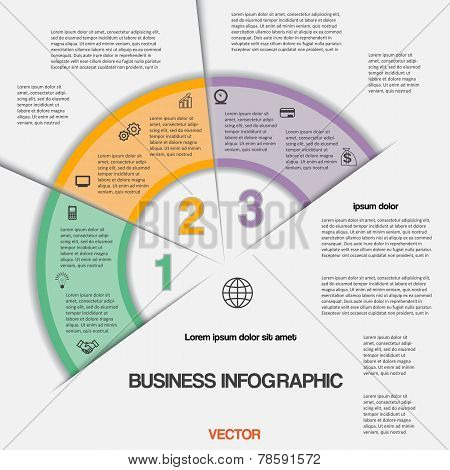 Business Infographic For Success Project And Other Your Variant, Vector Illustration Template With T