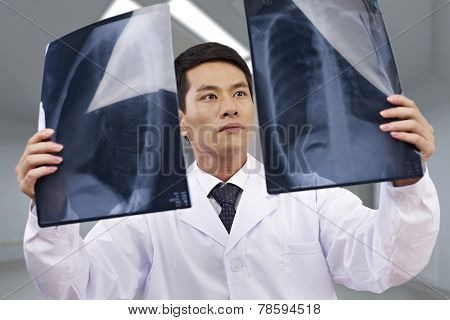 Asian Doctor At Work