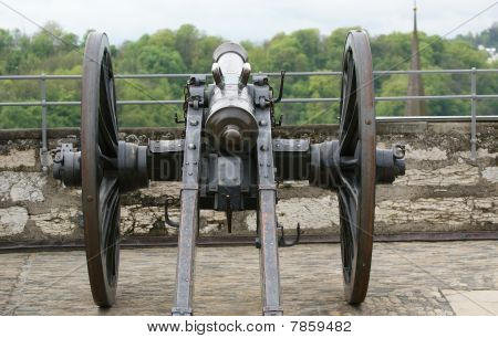 Medieval Cannon To Fire Nuclei. Switzerland, City Stein Am Rheine