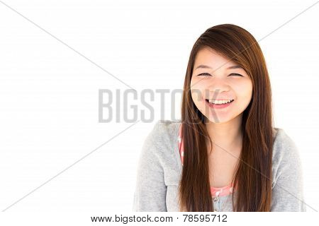 Woman Is Smiling