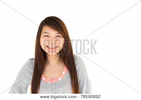 Thai Woman Is Smiling
